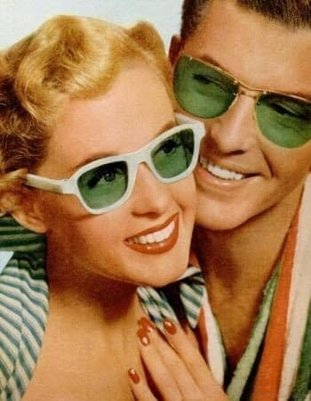 Gafas de sol verdes de plástico