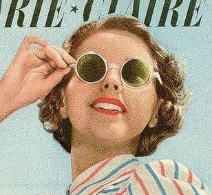 1939 gafas blancas con lentes verdes