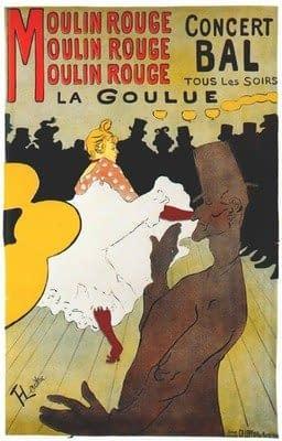 Moulin Rouge (1891) de Toulouse Lautrec