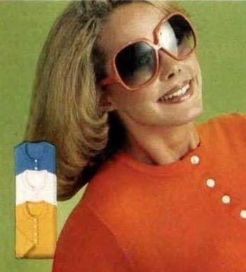 1977 Gafas de sol rojas