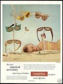 1949 Nuevas formas de gafas de sol