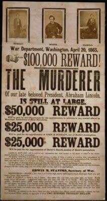 John Wilkes Booth wanted