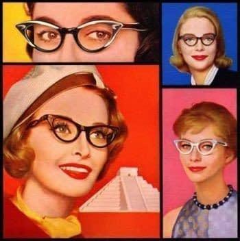 1959 gafas de plástico